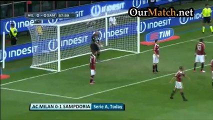 AC Milan 0-1 Sampdoria