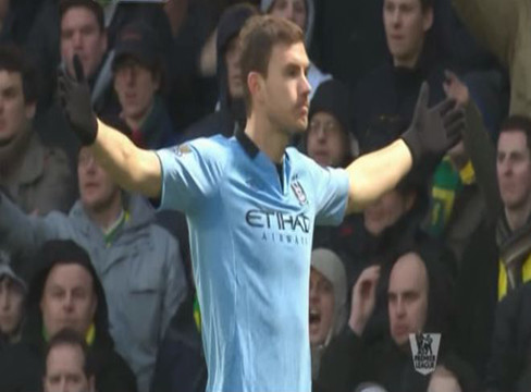 Norwich City 3-4 Manchester City