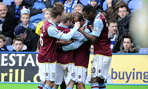 Reading 1-2 Aston Villa