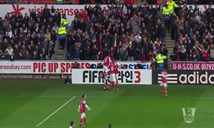 Swansea City 0-2 Arsenal