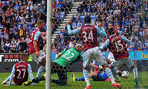 Wigan Athletic 2-2 Aston Villa
