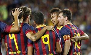 Barcelona 8-0 Santos