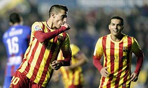Levante 1-4 Barcelona