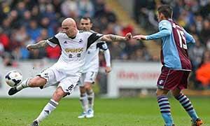 Swansea City 4-1 Aston Villa