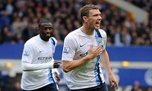 Everton 2-3 Manchester City