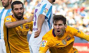 Malaga 1-2 Barcelona