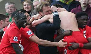 Norwich City 4-5 Liverpool