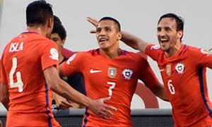 Colombia 0-2 Chile