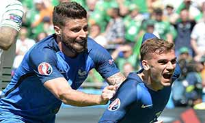 France 2-1 Republic of Ireland